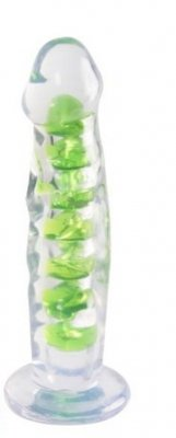 Dildo CLEARSTONE RIPPLE Green
