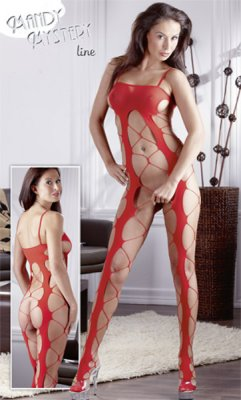 Catsuit COARSE S-L red