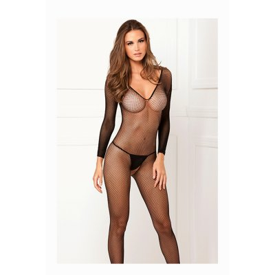 Catsuit FISHNET black
