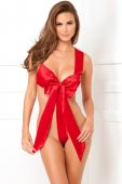 Body UNWRAP ME SATIN BOW TEDDY red M/L