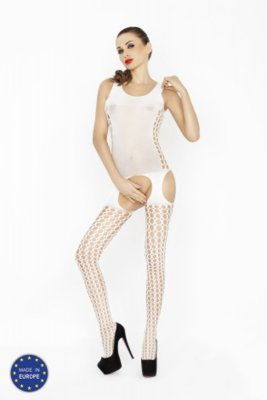 Catsuit PASSION BS029 bílý S-L