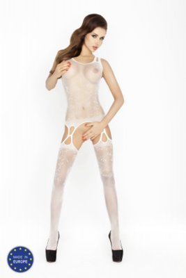 Catsuit PASSION BS015 bílý S-L