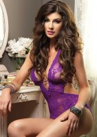 Body Halter TEDDY violet