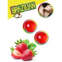 Tělový olej BRAZILIAN 2 BALLS SET strawberry