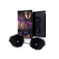 Pouta péřová SECRET HANDCUFFS black marabou