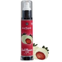 Lubrikační gel jedlý white chocolate and strawberry 50 ml