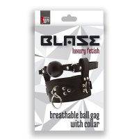 Roubík s obojkem BLAZE BREATHABLE BALL GAG WITH COLLAR