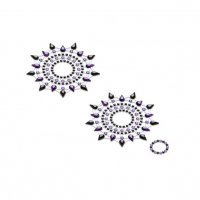 Lepítka GLORIA glittering jewelry black and purple 2 ks