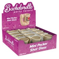 Štamprle s ouškem BACHELORETTE Mini Pecker Shot Glass