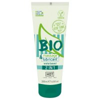 Lubrikační gel HOT BIO waterbased 2in1 200 ml