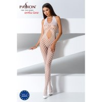 Catsuit PASSION BS065 bílý S-L