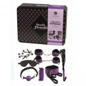 Sada SECRET PLAY Secret Bondage 8 PIECES SET purple