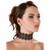 Obojek krajkový Cottelli Collection RHINESTONE CHOKER black