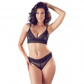 Souprava Cottelli LINGERIE Bra and Briefs black L